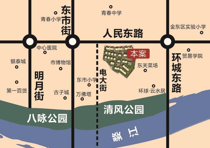 环球春江花园位置图