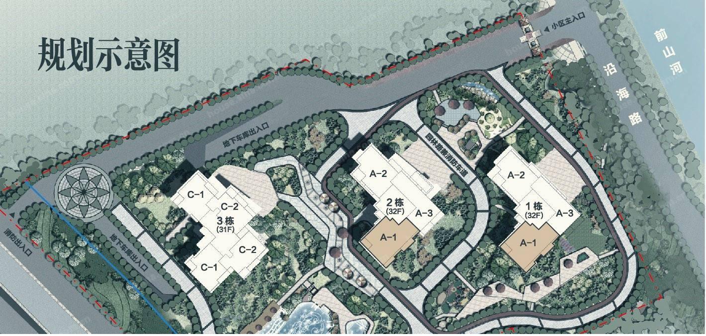 碧桂园·濠月湾位置图