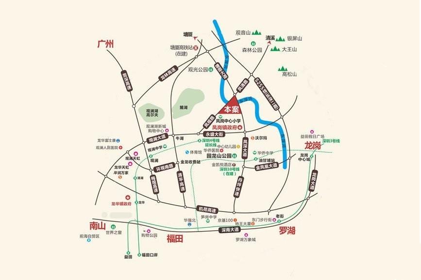 凤凰台位置图