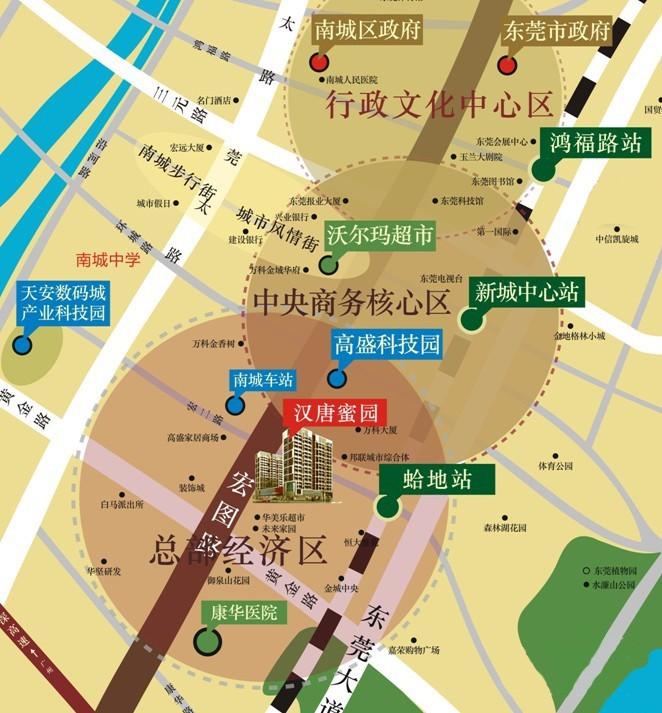 汉唐·蜜园位置图
