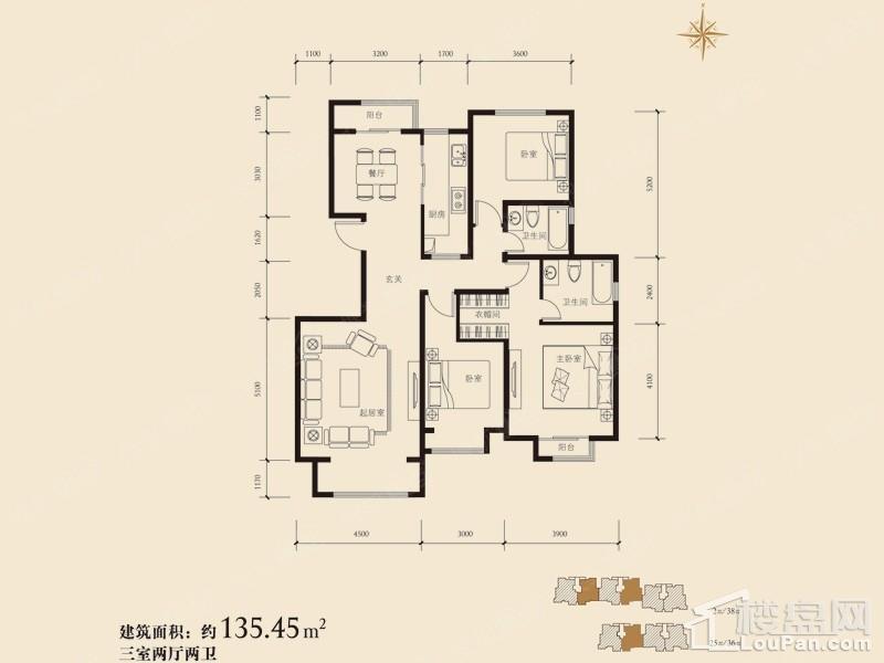 38#楼E户型