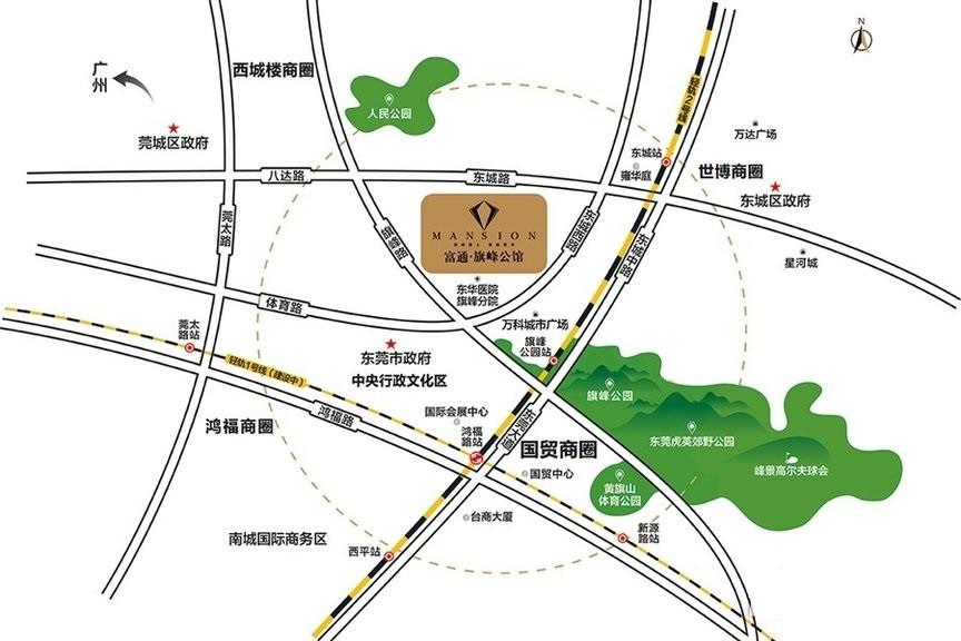 富通旗峰公馆位置图