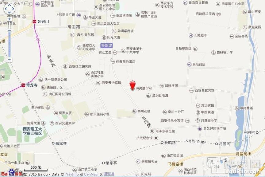 海亮·唐寧府位置图