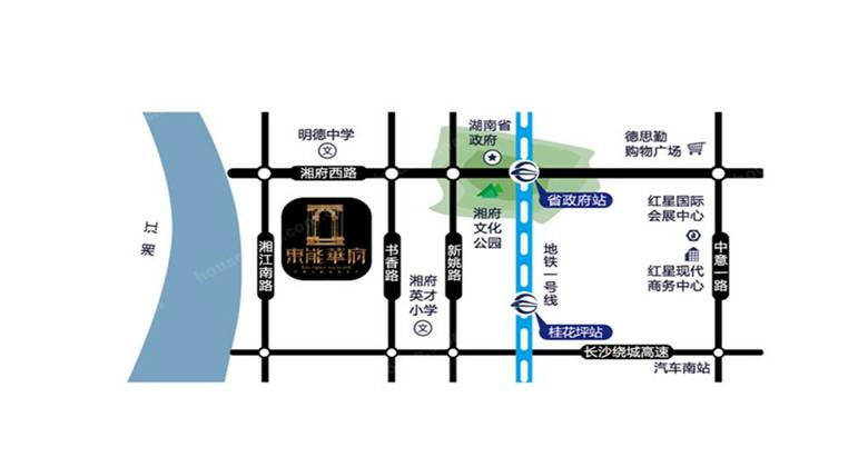 东能华府位置图