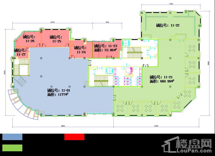 金地褐石公馆商铺位置图