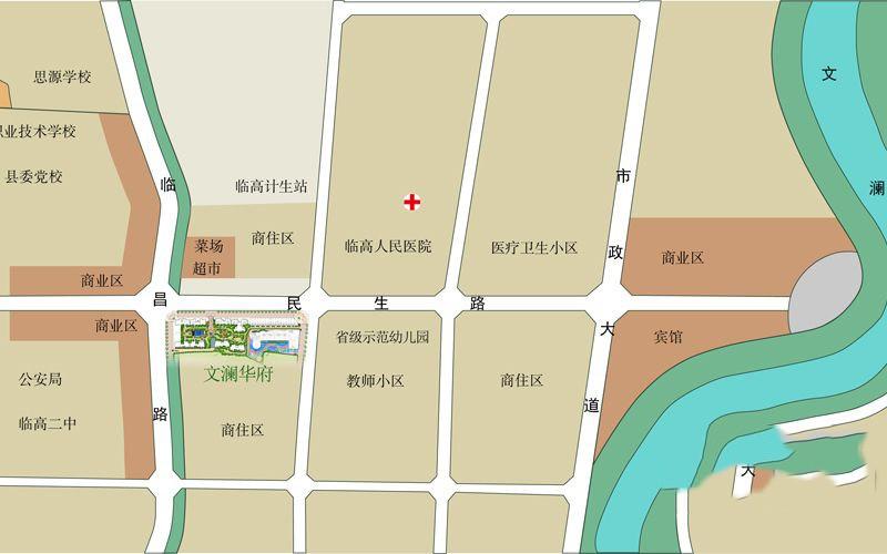文澜华府位置图
