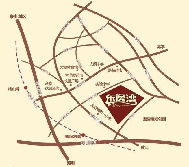东逸湾松湖轩位置图