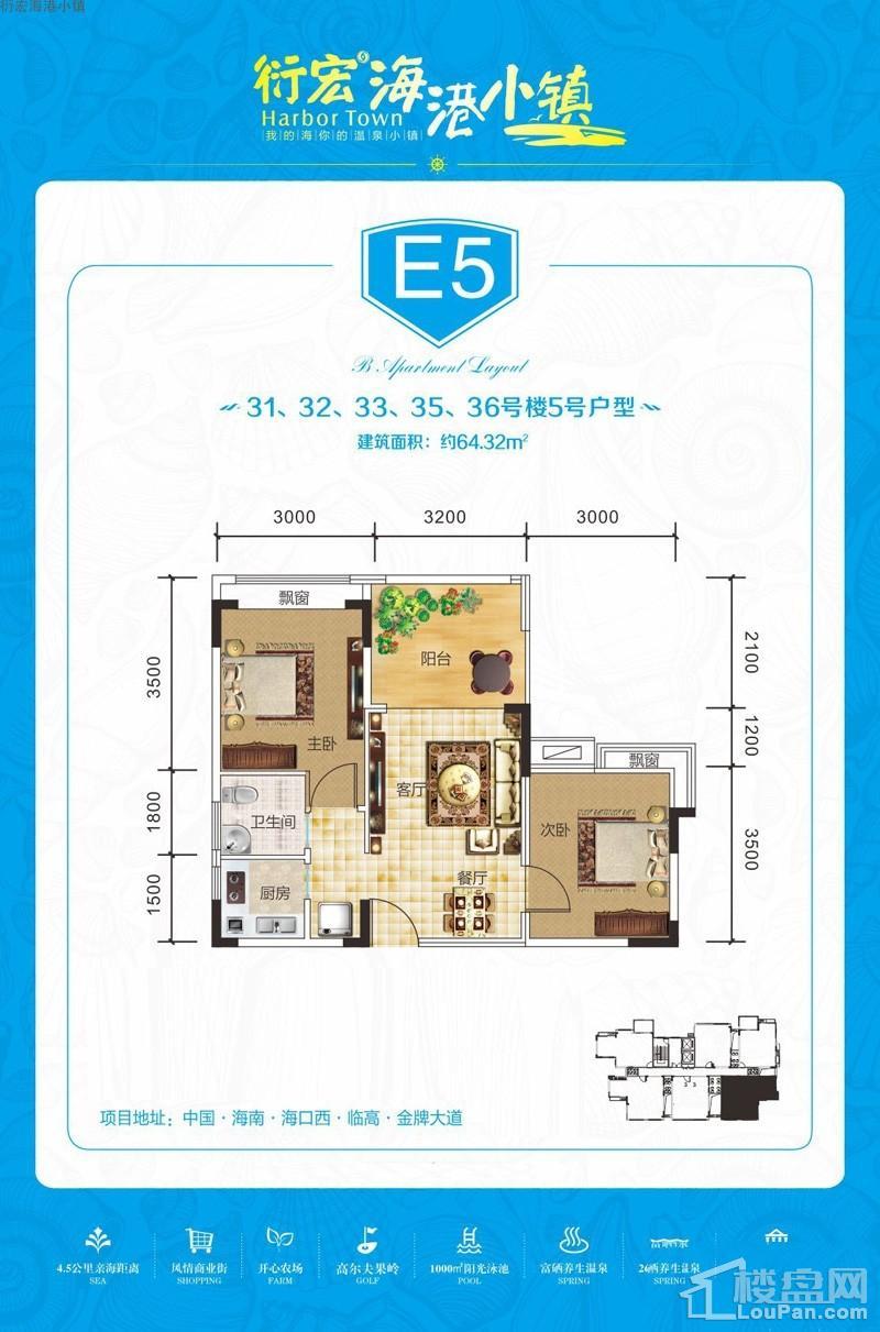 衍宏海港小镇E5户型图