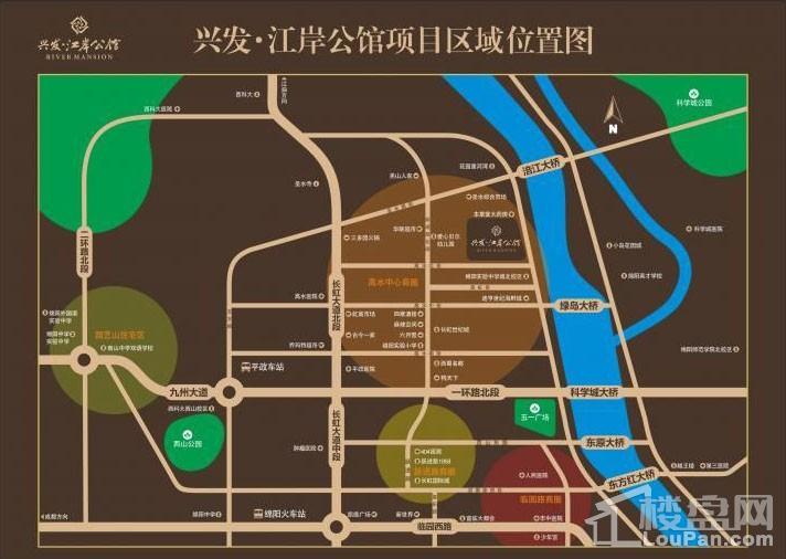 兴发·江岸公馆位置图
