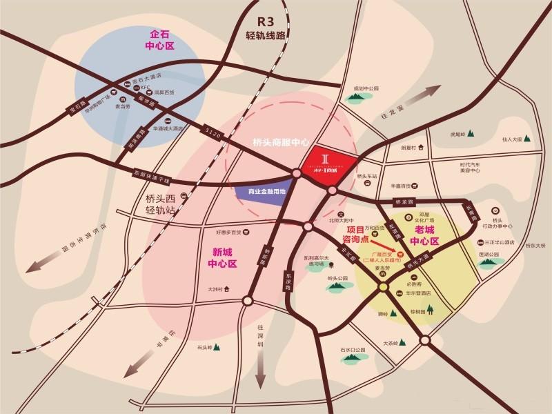鸿华I尚城位置图