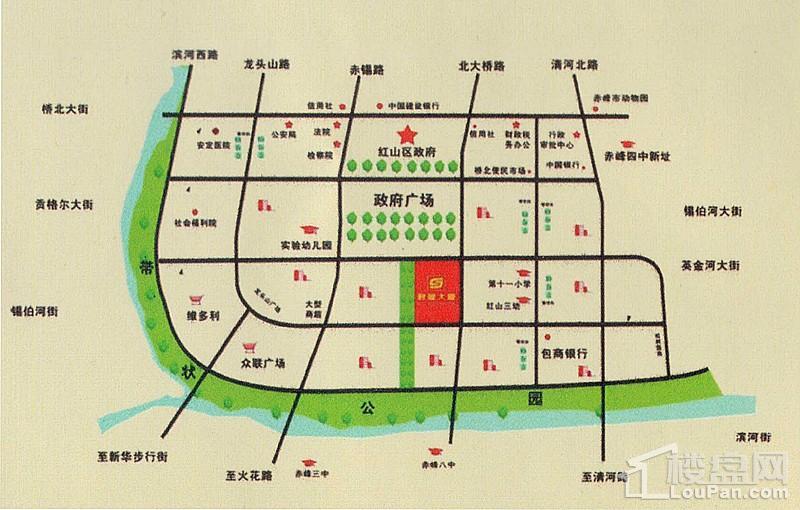 红山区政府广场南