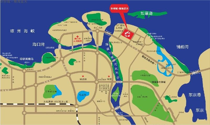 华侨城·椰海蓝天位置图