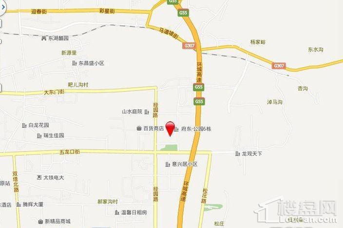 府东·公园6栋商铺位置图
