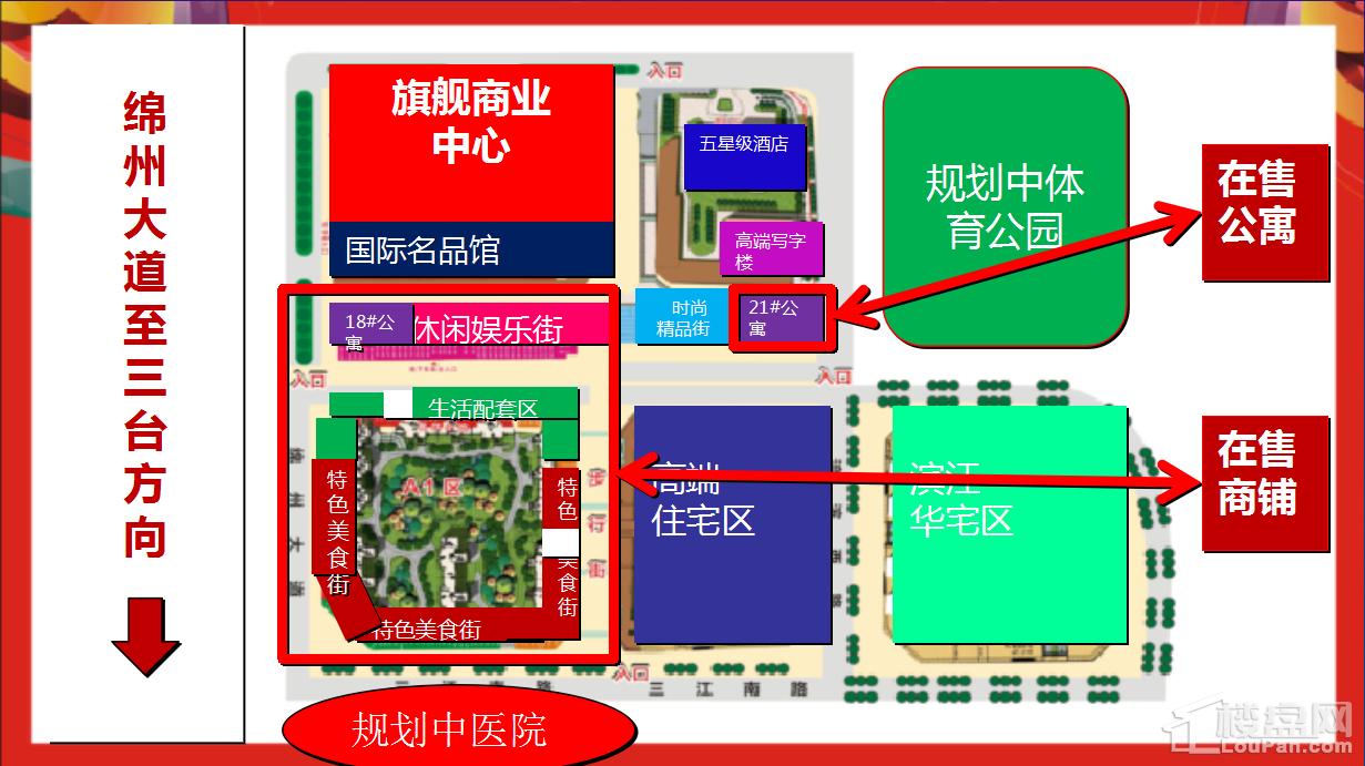 绵阳CBD万达广场公寓-配套图