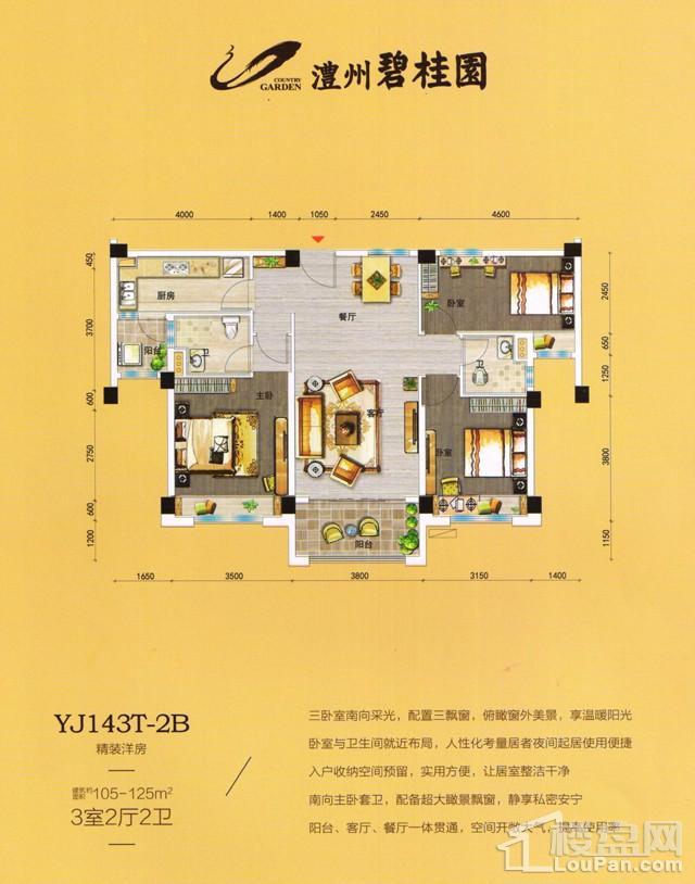 澧州碧桂园一期YJ143T-2B户型图