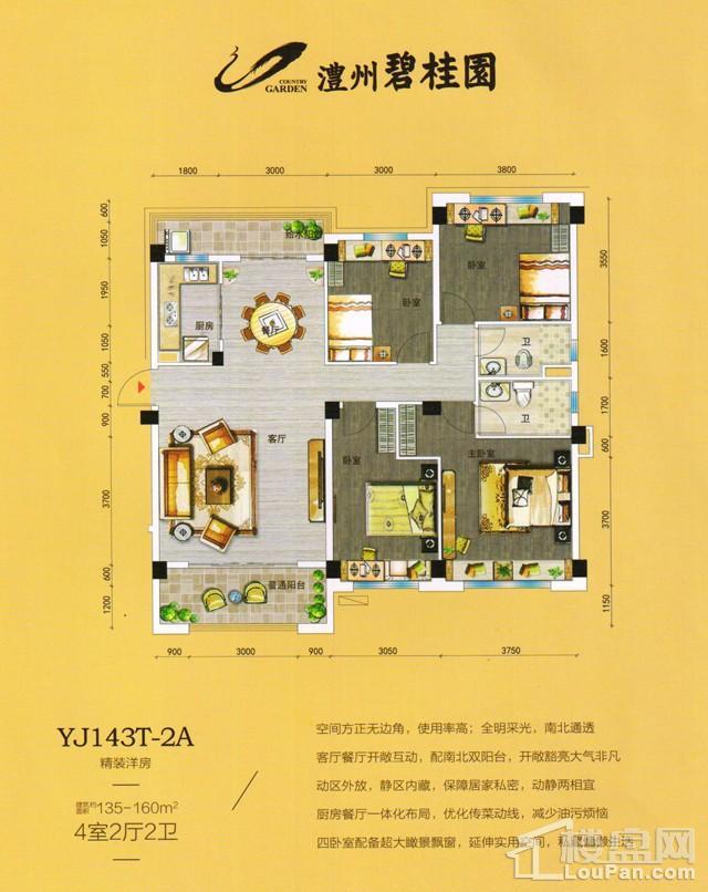 澧州碧桂园一期YJ143T-2A户型图
