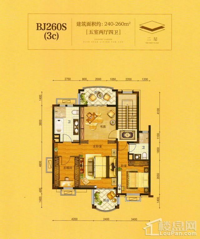 澧州碧桂园一期BJ260S(3C)二层户型图