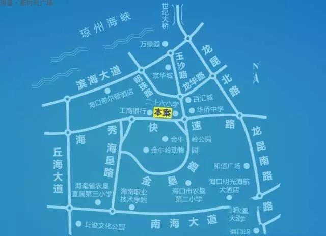 海垦广场位置图