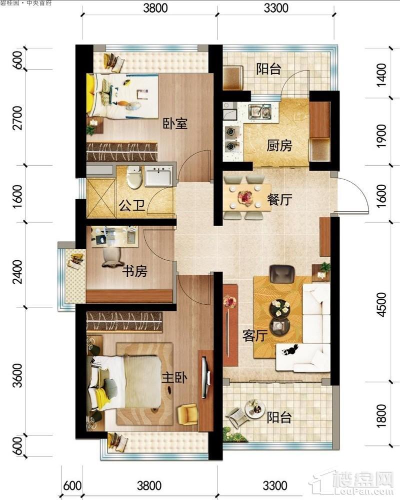 碧桂园·中央首府Y051-(A)户型图