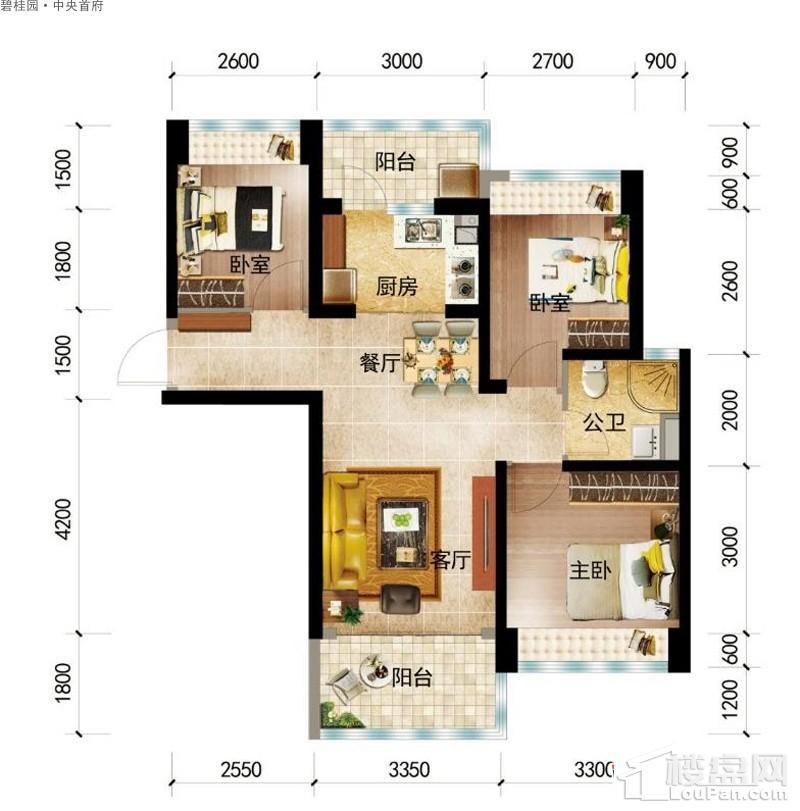 碧桂园·中央首府Y051-(C)户型图