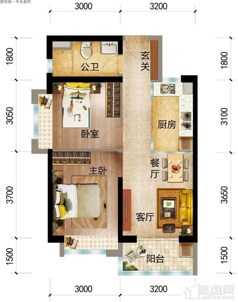 碧桂园·中央首府Y203-B户型图