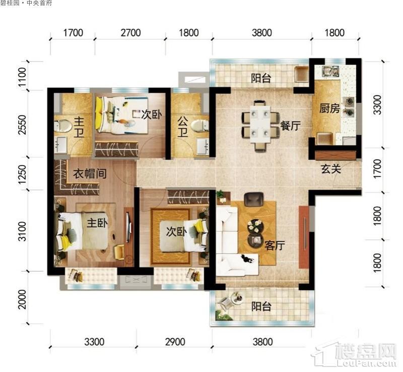 碧桂园·中央首府Y316-A户型图