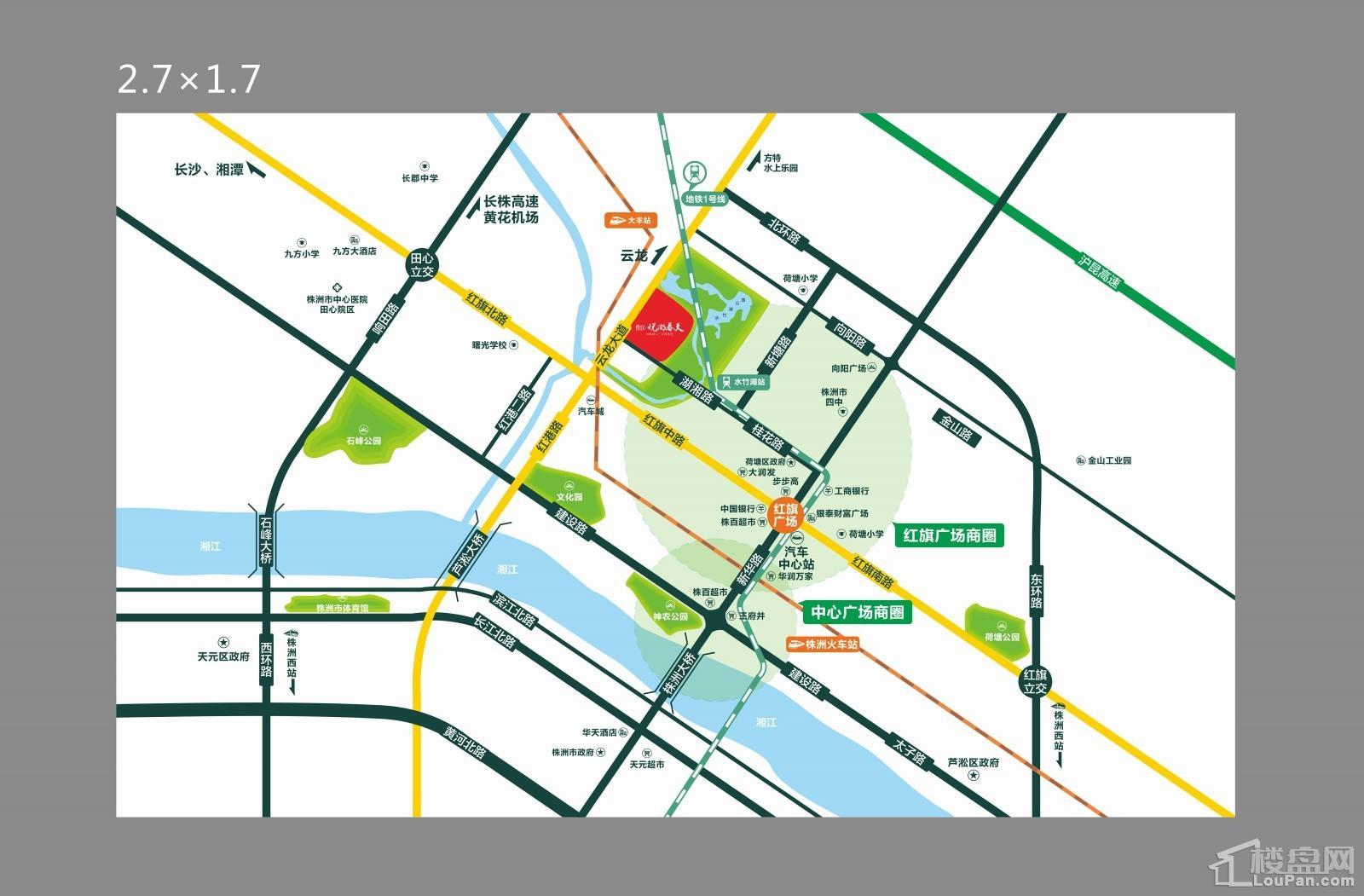 悦湖春天区位图
