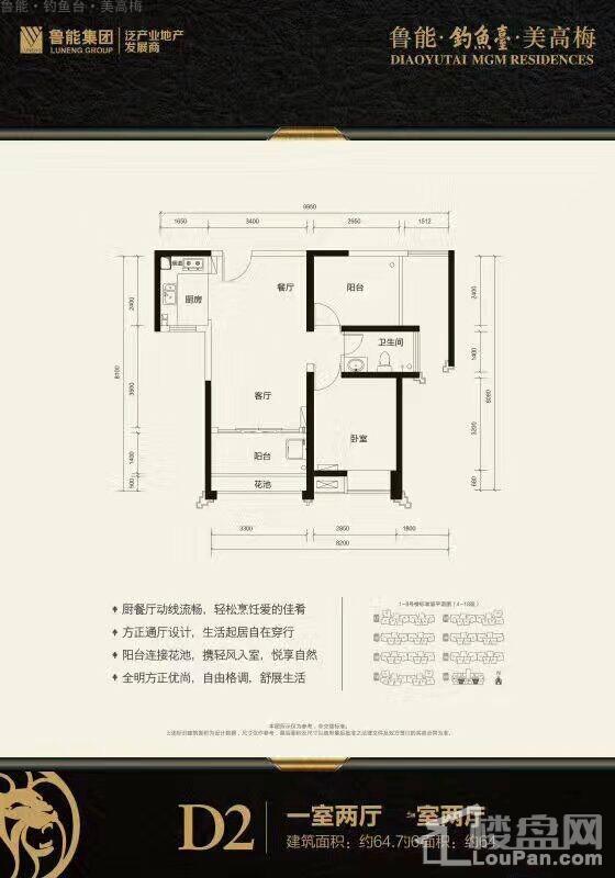 鲁能·钓鱼台·美高梅D2户型图