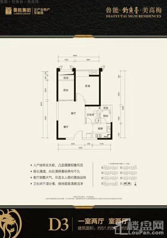 鲁能·钓鱼台·美高梅D3户型图