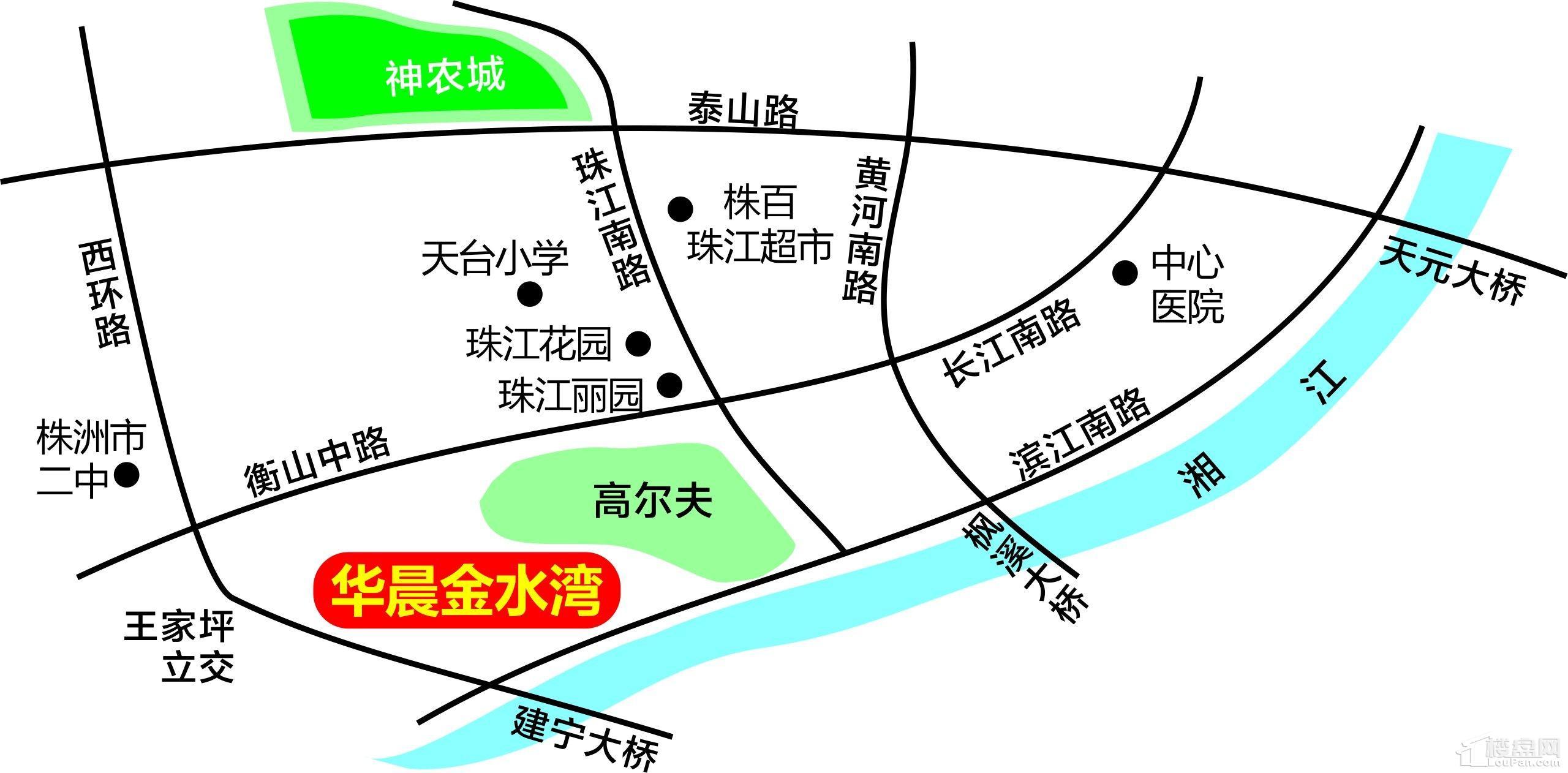 金水湾区位图