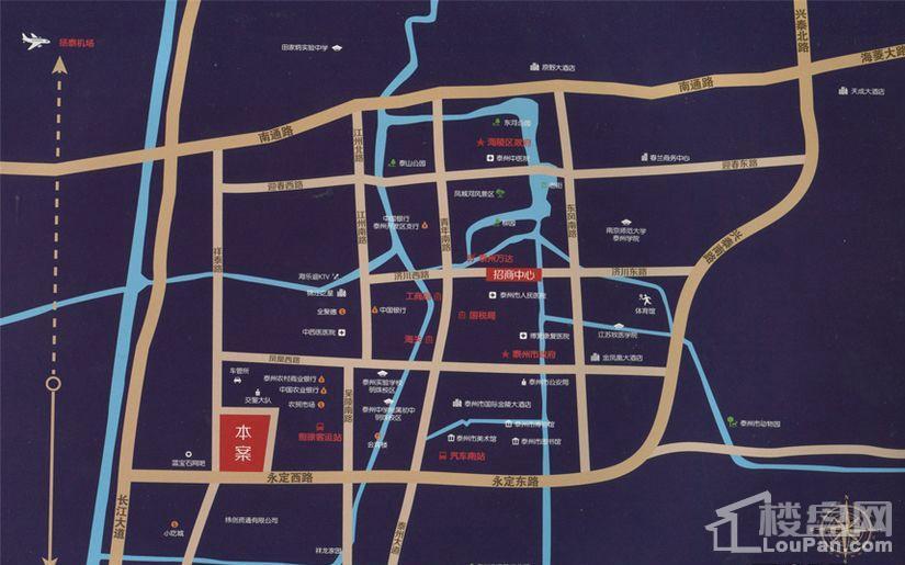丝绸之路·泰州广场位置图
