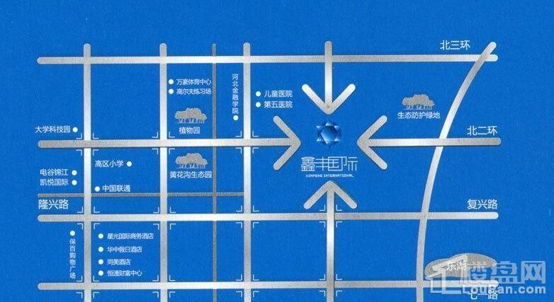 鑫丰国际位置图