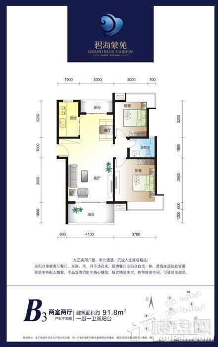 碧海蒙苑B3户型图