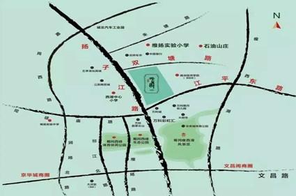 万江北山园位置图