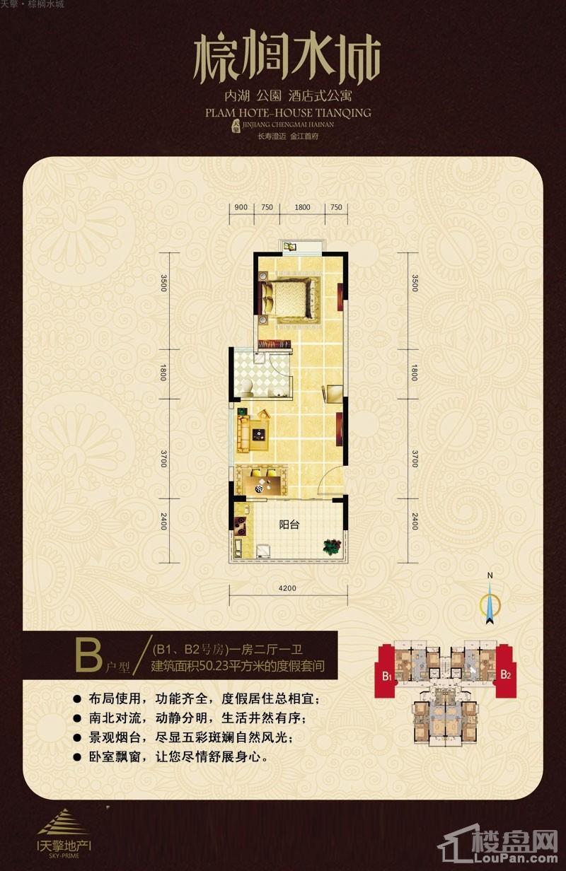 天擎·棕榈水城酒店式公寓B户型图