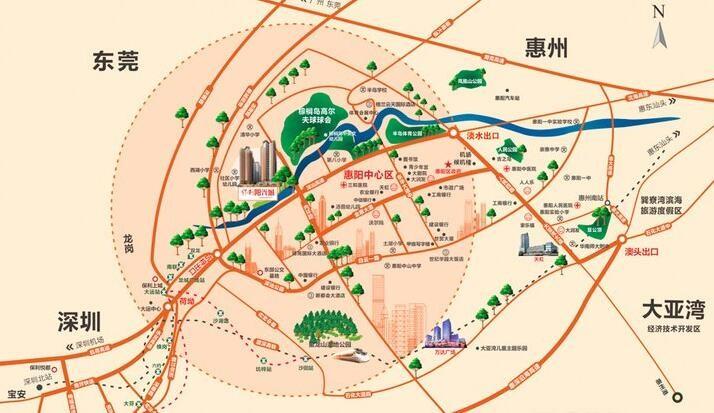 保利·阳光城位置图
