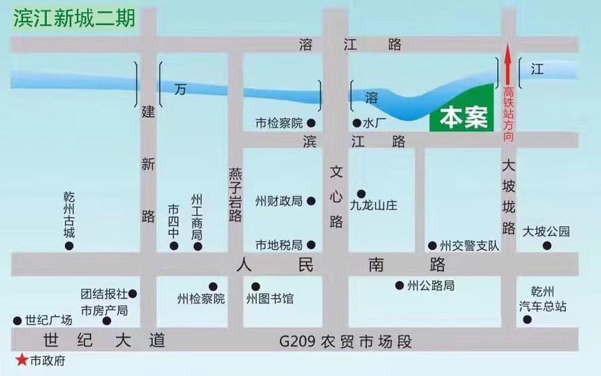 滨江新城二期位置图