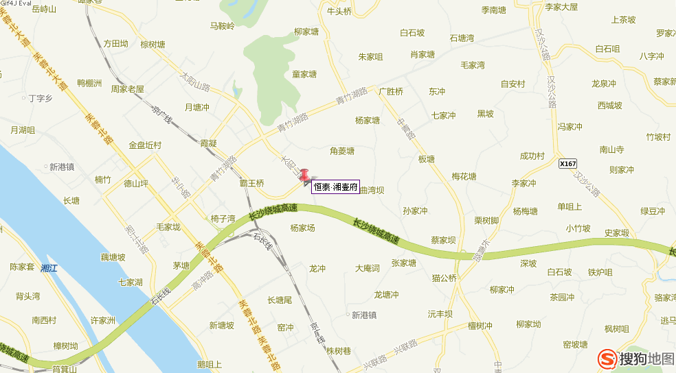 恒泰·湘壹府位置图