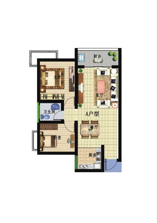 晶鑫公寓配套图