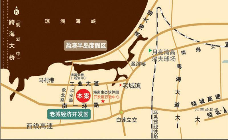 冠永·凤凰城位置图