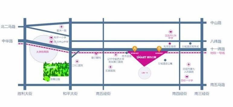 Smart地铁公寓位置图