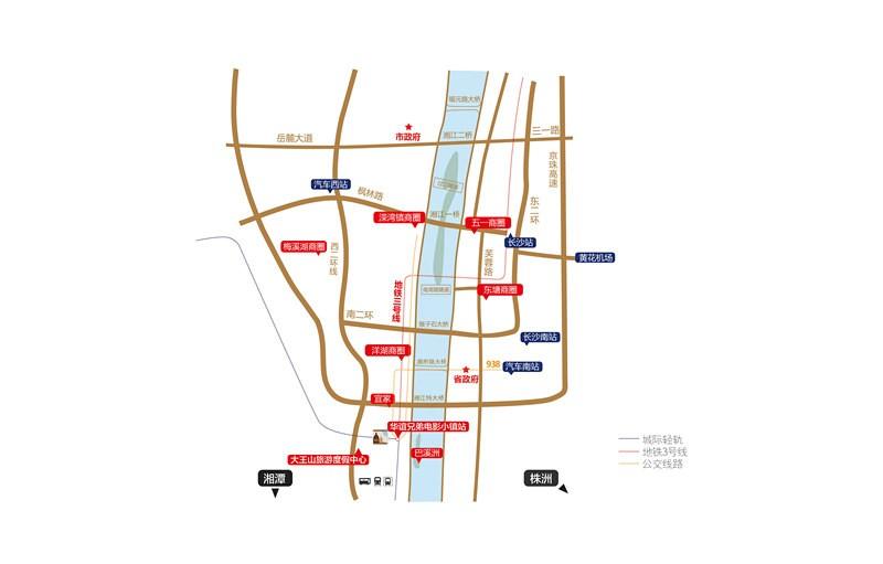 华谊兄弟电影小镇位置图
