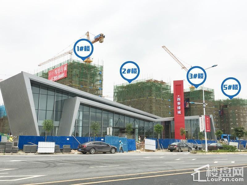 1/2/3/5#楼建设至9层左右(摄于2017.4.27)