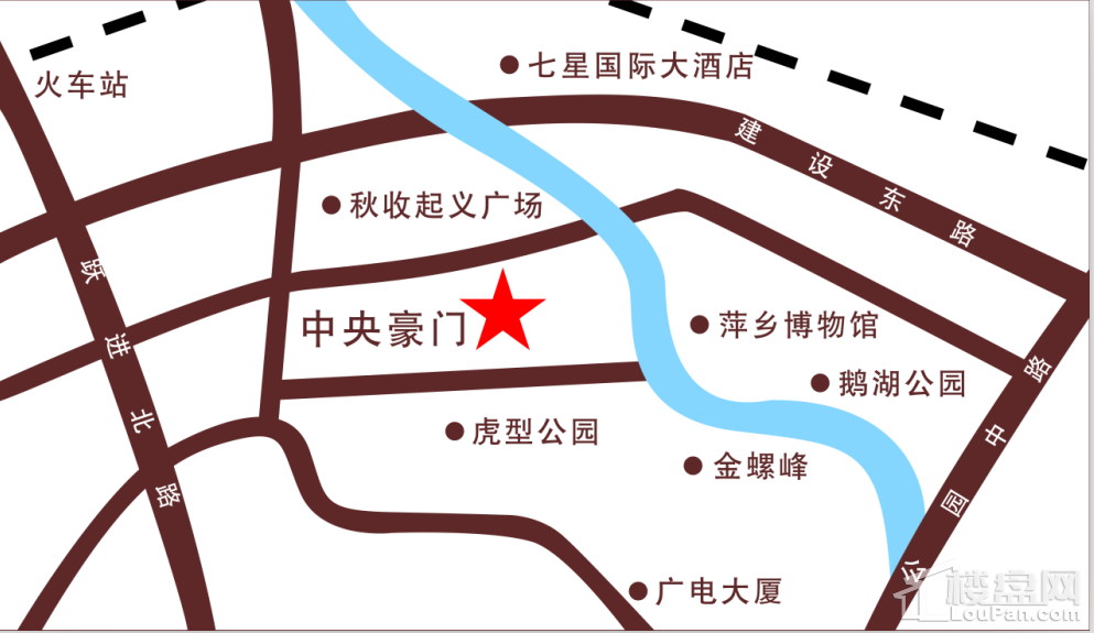 中央豪门位置图
