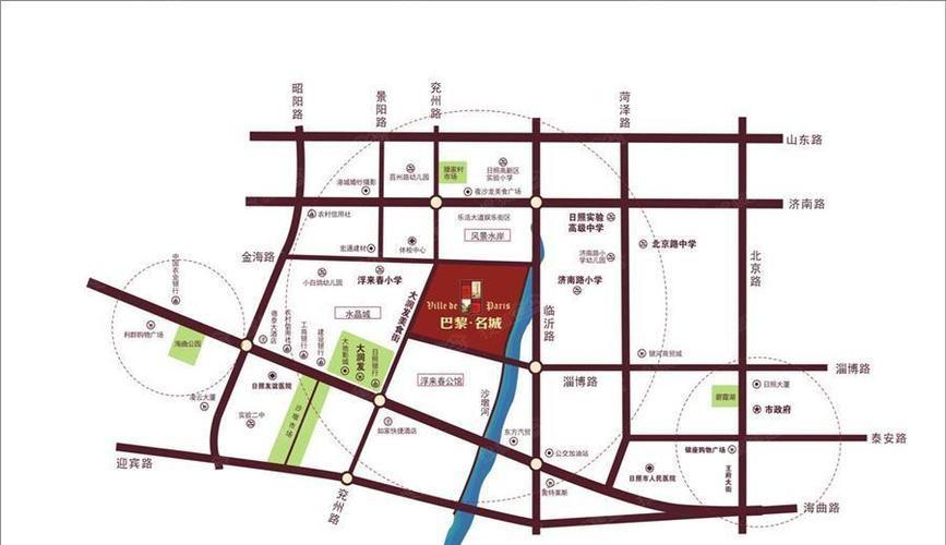 巴黎名城位置图