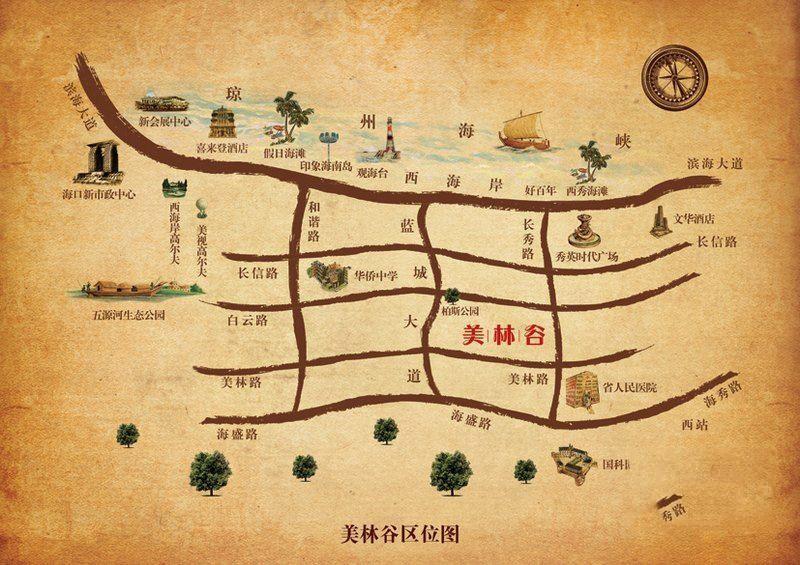 慧远美林谷位置图
