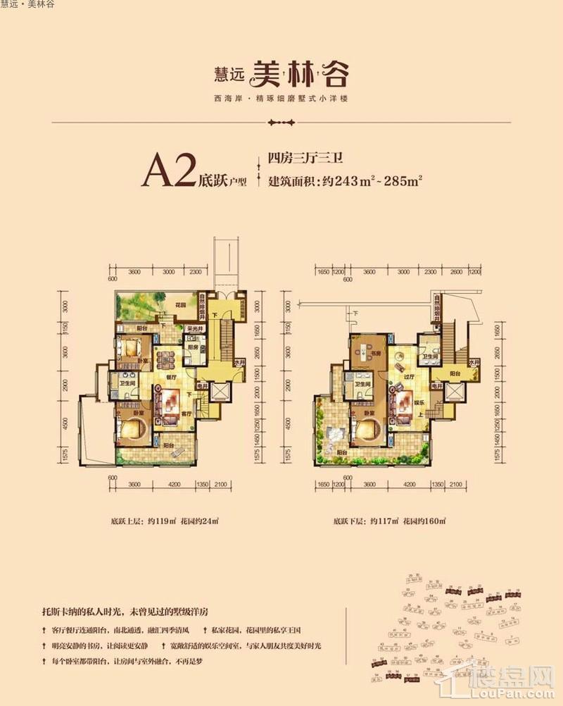 慧远·美林谷A2底跃户型图