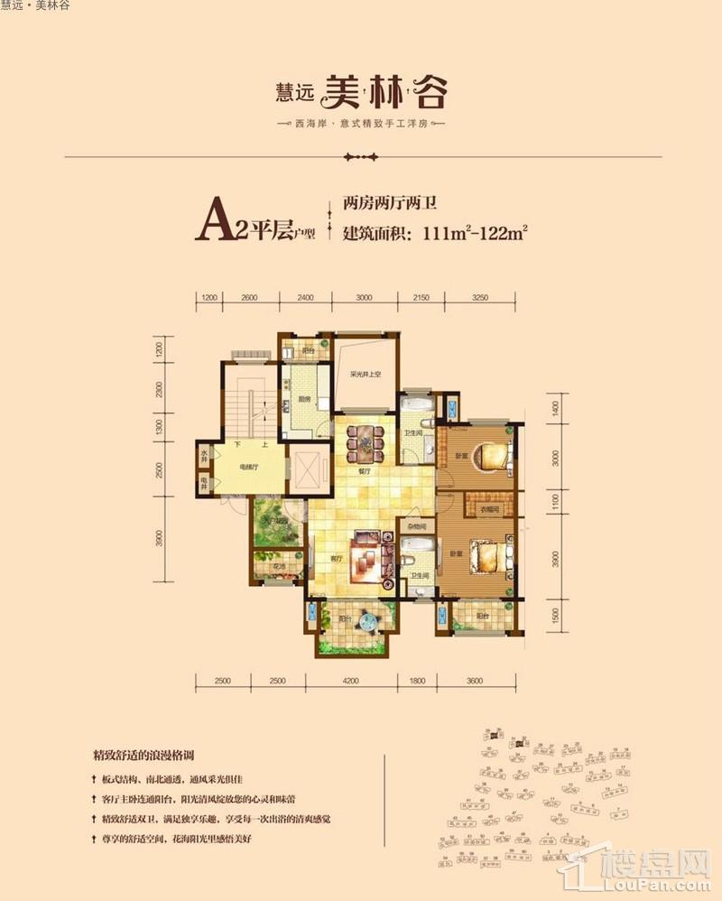 慧远·美林谷A2平层户型图