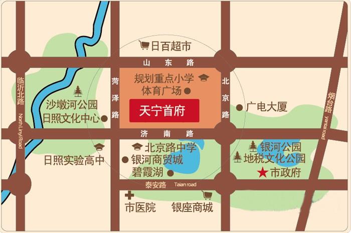 天宁·首府位置图
