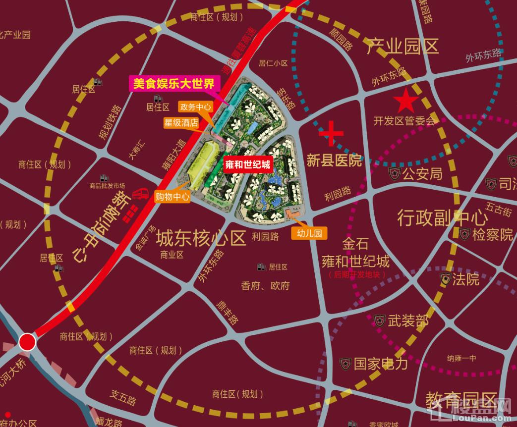 雍和世纪城位置图